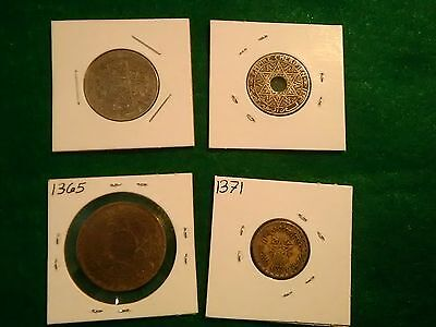 world coin collection very fine detail lot of 4 coins in 2x2's Silver?