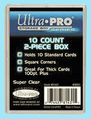 Ultra Pro 10 Count Clear 2-Piece Card Storage Box Slightly Used