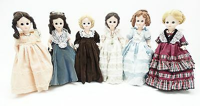 """Madame Alexander First Ladies of the US Series II  13"""" Dolls Lot of 6"""