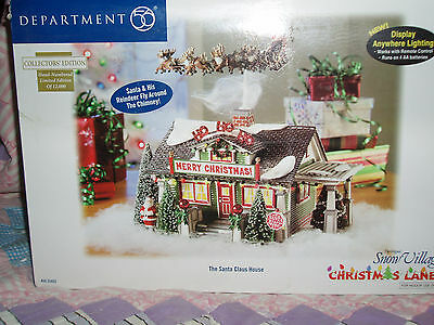 DEPARTMENT 56 SNOW VILLAGE Christmas Lane THE SANTA CLAUS HOUSE NIB
