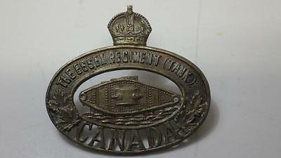 WWII Essex Tank Cap Badge Canada Canadian Military