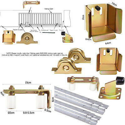 Sliding Gate Door Hardware Accessories Kit Wheels Track Gate Keeper Rolle Guide