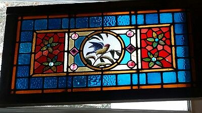 Rare Bluebird stained glass window jewels gorgeous 19th century.