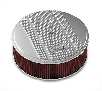 Holley 120-155 Air Filter Assembly Vintage Series Round 14 in. Diameter Polished