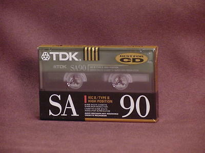 TDK SA90 Cassette Type II High Position Sealed Brand New. Free Shipping!