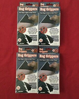 BNIB 4 Boxes RUG GRIPPERS Non Slip Reusable Carpet Mat GRIPPERS