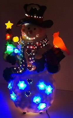 Forever Gifts Christmas Fiber Optic Snowman Decorative Display
