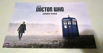 Doctor Who Season Nine Peter Capaldi TARDIS Promo Poster Fan Expo Con 2015