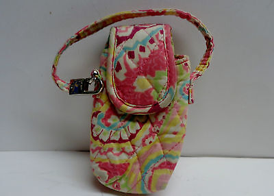 Vintage Vera Bradley Floral Pattern Small Cell Phone Case  PINK / YELLOW