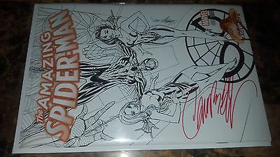 The Amazing Spiderman #1 Black & White Sketch Variant Signed by Campbell