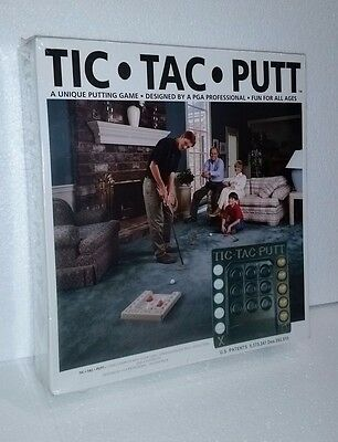 TIC TAC PUTT NIB New sealed golf putting and Noughts & Crosses game all in 1