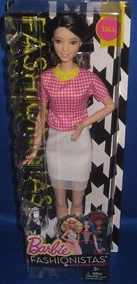 Barbie Collector  Fashionistas Tall Barbie Doll #30 White &pink Pizzazz, New