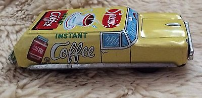 Vintage Tin Friction Toy Car | SPECIAL COFFEE Station Wagon | Japan 1950s-60s