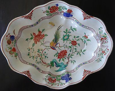 Antique Booths Silicon China England Floral Bird Deep Large Tray Plate