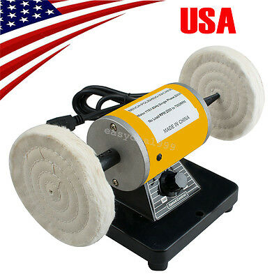 *USA* Polisher Polishing Machine Dental Lab Lathe Bench Buffing Grinder Jewelry