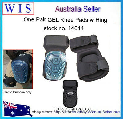 2/PK Gel Filled Knee Leg Pads Silicone Protect w Hinges & Adjustable Strap-14014