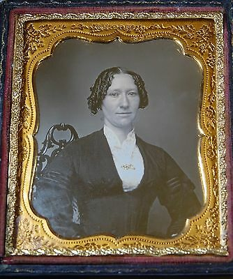 Fashionable Young Lady Ultra Polished 1/6Th Daguerreotype