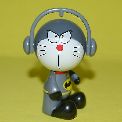 Mini Doraemon figure doll toy 3 inch H Grey collectible ornament gift
