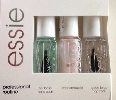 Essie Kit Smalti Professional Routine Base Coat+Ref 298 Madmoiselle+Top Coat