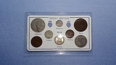 Vintage Great Britain(UK),1935 Coin Set.(82ND Birthday,5 Coins Silver).����.