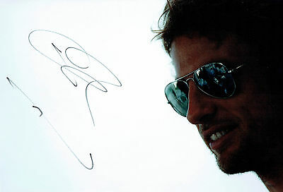 Jenson BUTTON Signed Autograph 12x8 Portrait Photo AFTAL COA