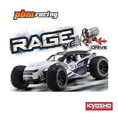 Kyosho Rage VEi 1/10 RC Electric Brushless 2.4Ghz RTR Truck With dDRIVE 34353B