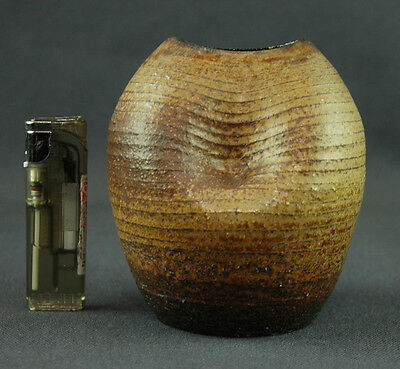 Japanese Vintage: Pottery Vase for Tea Ceremony by Shigaraki Ware #55