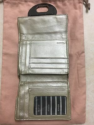 Mimco Beige & Gold  Leather Wallet