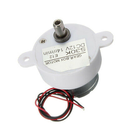1 x 14r / min 2 Wires High Torque Electric Geared Reduction Motor Box DC 12V