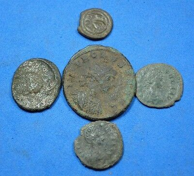 Lot of 5 Roman Coins.r