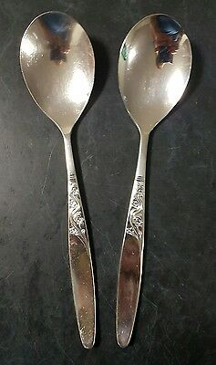 Grosvenor Christine Silver Plated Epns A1 Large Serving Spoons 2 Pieces