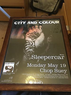 Rare City And Colour Promo Poster Framed