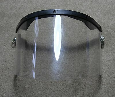 British Army - Riot Visor with Clips Mk 6 Helmet - Used