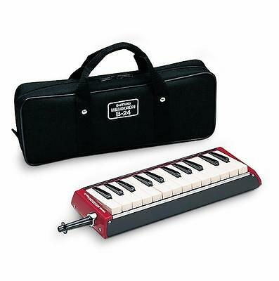 Suzuki MELODION BASS B-24C Keyboard harmonica Melodica  with Case - Mouthpiece