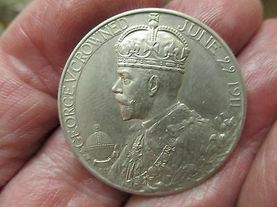 George V And Queen Mary Silver Coronation Medal 1911. In as struck condition.