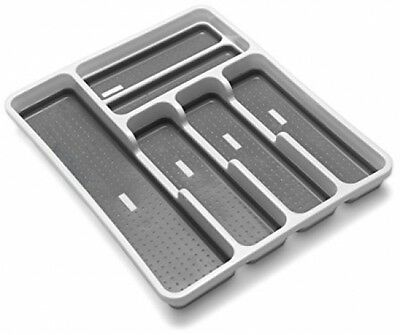 6 Compartment Drawer Organiser Cutlery Storage Plastic Caddy Large Addis New