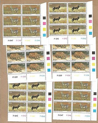 SWA: 6 CBlocks 6 MNH + 2 Full sets (MNH and CTO) + FDC with Info Card (Ref 933)