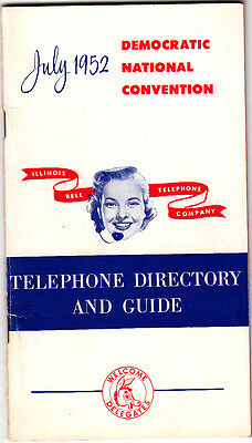 July 1952 Democratic National Convention Telephone Directory And Guide Delegates