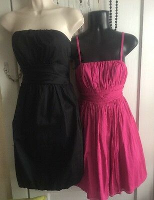 Lot Of Two Party Dresses Pink Black Wholesale Pretty Dance Woman's 8, 5