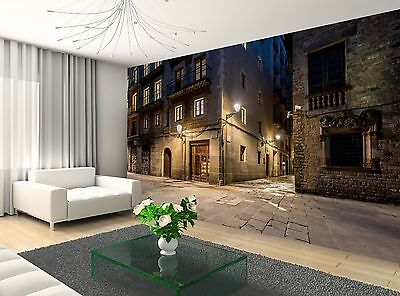 Street at Night  Wall Mural Photo Wallpaper GIANT WALL DECOR Paper Poster