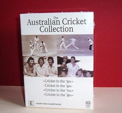 DVD''s The Australian Cricket Collection 4 Disc Set (50's ;60's; 70's & 80's)