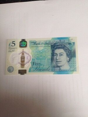 New £5 Note AA01-