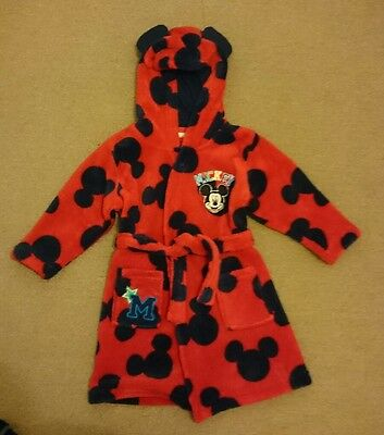 mickey mouse dressing gown 9 - 12 months