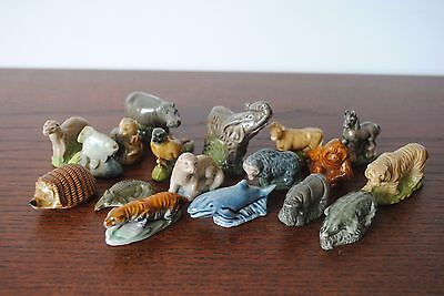 18 Wade Animal figures Plus Brother Angelo - job lot some Whimsy Whimsie