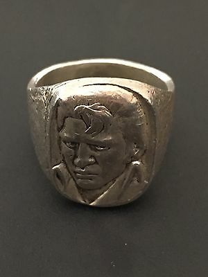 Very Rare Vintage Sterling Silver Elvis Ring Solid Silver Elvis Presley