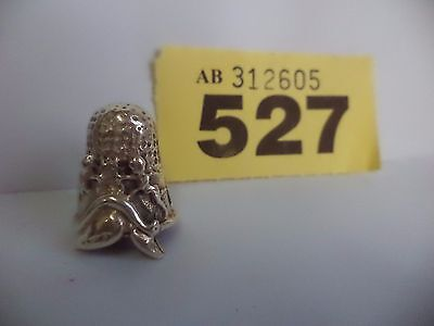 Vintage Continental / European .925 Solid Silver Thimble with Cherub & Dolphin