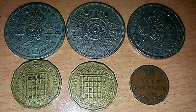 Half farthing Two Shillings 2 Coin