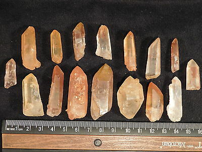 A Big Lot of Small 100% Natural Quartz Crystals with Hematite Brazil 103gr