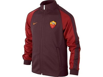 AROM18j: AS Roma brand new official Nike kids sweat-jacket (13-15 years)