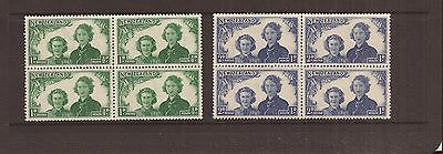 New Zealand 1945 Health Stamps  Blocks Of 4 Mnh